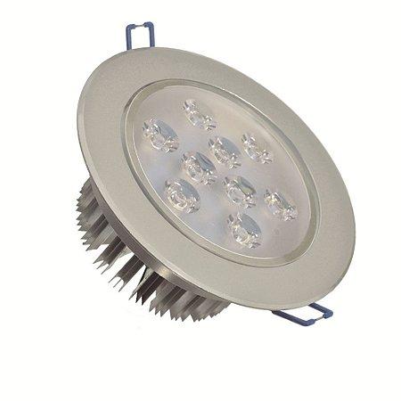 Spot Dicróica 9w LED Direcionável Corpo Aluminio