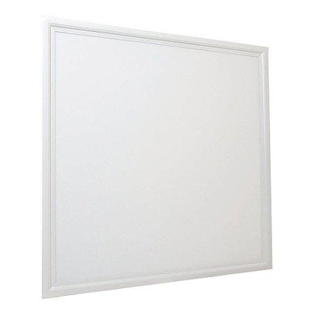 Luminária Plafon 62x62 45W LED Embutir Branco Frio