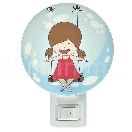 Luminária LED Abajur Menina 1W Luz Noturna