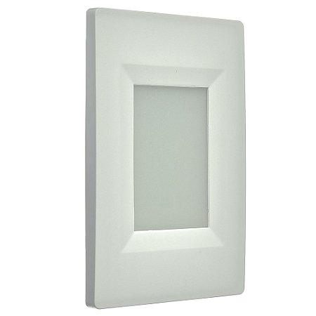 Balizador LED 2W De Embutir Retangular Branco Frio Branco