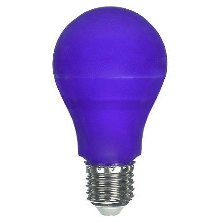 Lâmpada LED Bulbo 6W E27 Lilás Bivolt