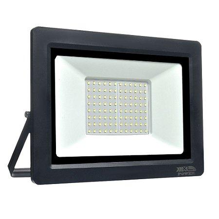 Refletor MicroLED Ultra Thin 200W Branco Quente Black Type