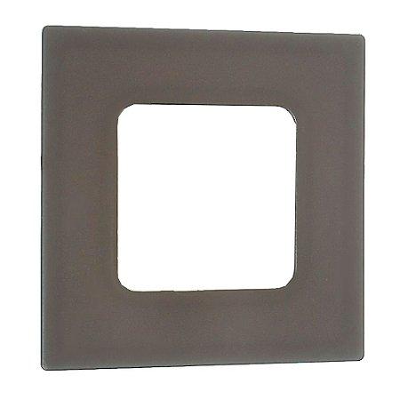 Luminária Plafon 3w LED Embutir Quadrado Branco Frio Marrom