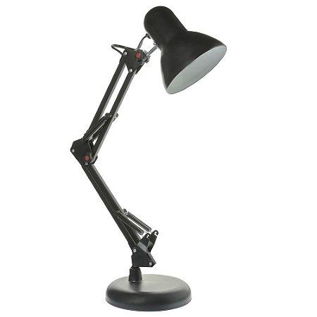 Luminária de Mesa Articulada Preto