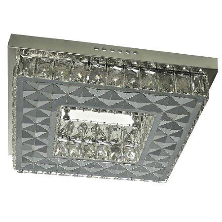 Lustre de Cristal K9 Pendente Quadrado 40x40