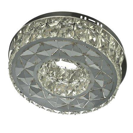 Lustre de Cristal K9 Plafon LED Redondo 30x30