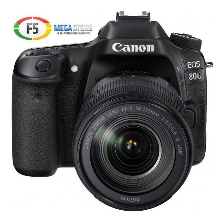 Camera Canon EOS 80D Com Lente 18-135mm USM 25.8 Megapixels DIGIC 6