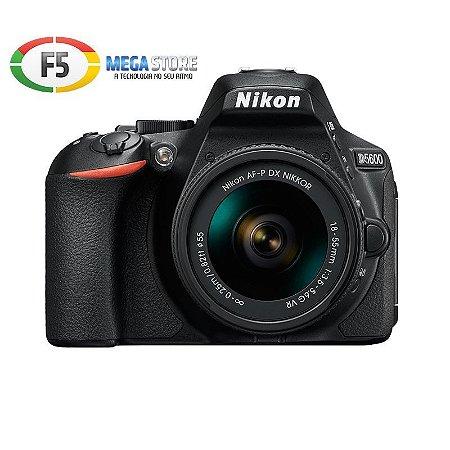 Camera Nikon D5600 Lente 18-55mm 24MP Full HD  Wi fi