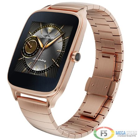 """ASUS ZenWatch 2 WI501Q Tela Touch AMOLED 1.63"""" Flash eMMC 4GB 512MB Ram Android Wear Dourado"""