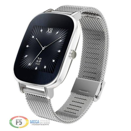 "ASUS ZenWatch 2 WI502Q Tela Touch AMOLED 1.45"" Flash eMMC 4GB 512MB Ram Android Wear Prata"