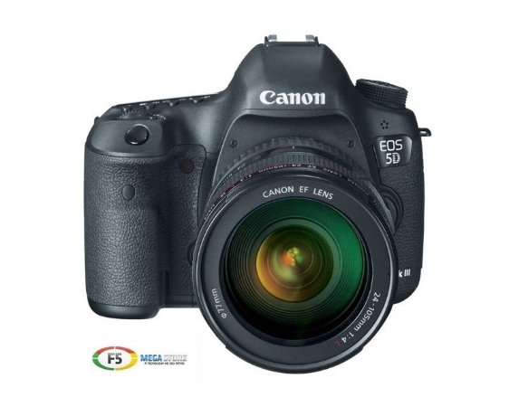 Camera Canon EOS 5D Mark III Com Lente 24 105mm 22.3  Megapixels
