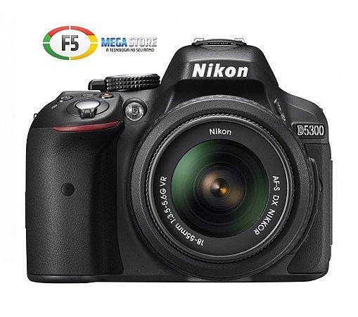 Camera Nikon D5300 com Lente 18 55mm 24 Megapixels Full HD