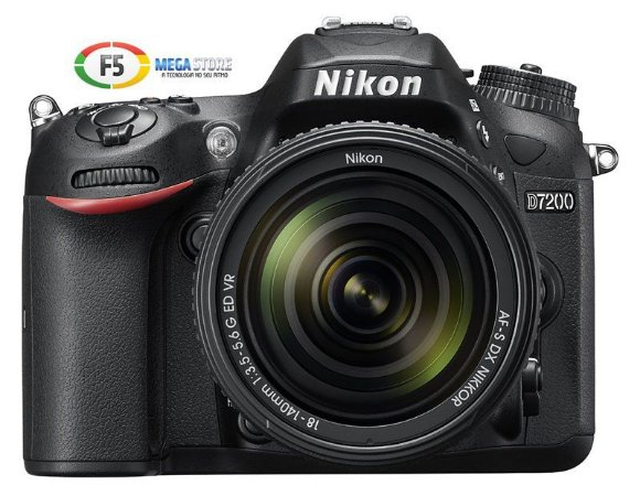 Camera Nikon D7200 Com Lente 18 140mm DX 24.2 Megapixels Full HD