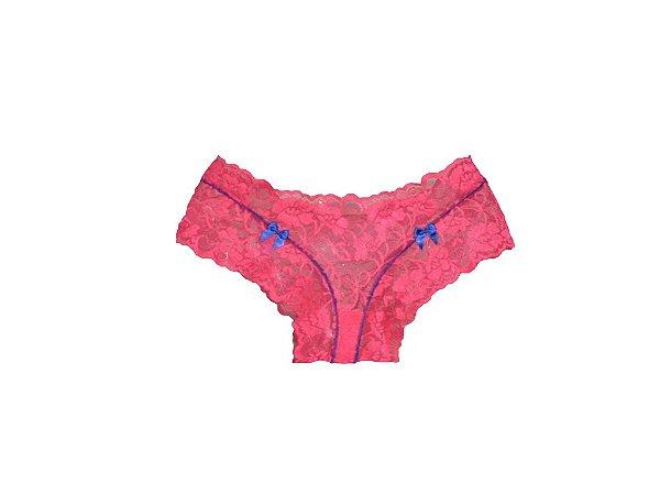 Tanga Caleçon Renda Pink