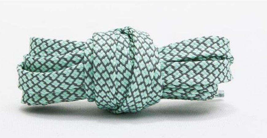 Cadarço Flat Refletivo - Tiffany - 125 cm