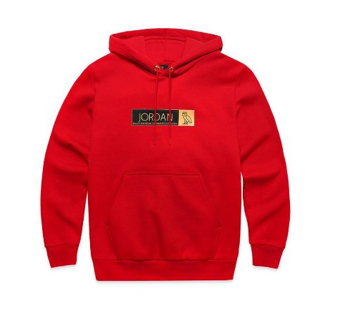 "OVO x Jordan Brand - Moletom Icon Fleece ""Red"""