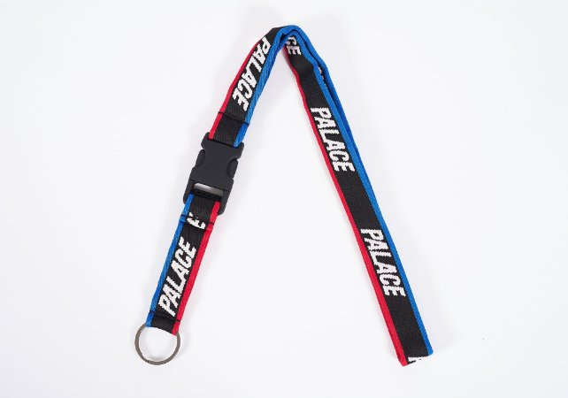"PALACE - Chaveiro Basically A Lanyard ""Black"""