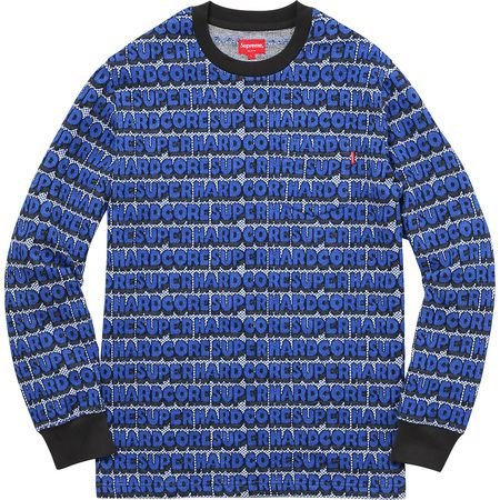 "SUPREME - Camiseta Super Hardcore Jacquard Top ""Blue"""