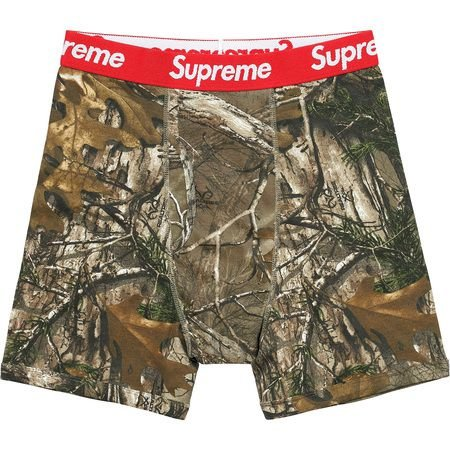"Supreme - Kit com 2 cuecas Boxer Hanes Realtree ""Camo"""