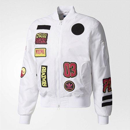 """adidas - Jaqueta Bomber Logo Padded """"White"""""""