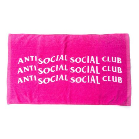 "ANTI SOCIAL SOCIAL CLUB - Toalha Logo ""Pink"""