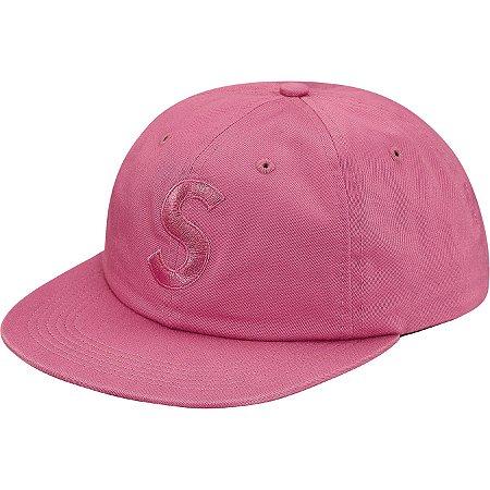 """SUPREME - Boné Tonal S Logo 6-Panel """"Pink"""""""
