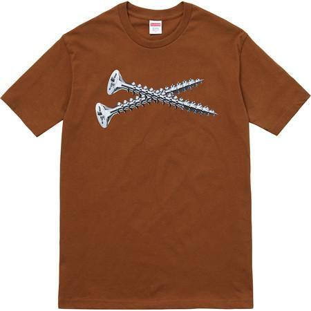 "SUPREME - Camiseta Screw ""Brown"""