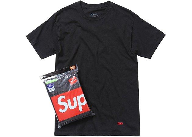 """SUPREME - Camiseta Hanes UNIDADE """"Black"""""""