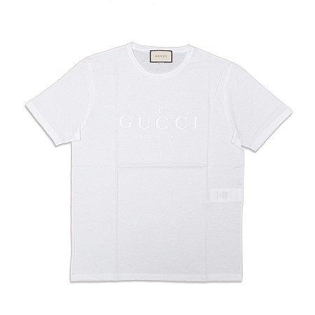 "GUCCI - Camiseta Trademark Logo Slim ""White"""