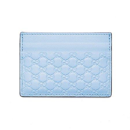 """GUCCI - Porta Cartão GG Guccissima """"Mineral Blue"""""""