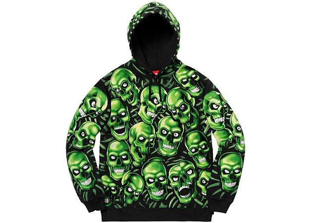 """ENCOMENDA - SUPREME - Moletom Skull Pile """"Green"""""""