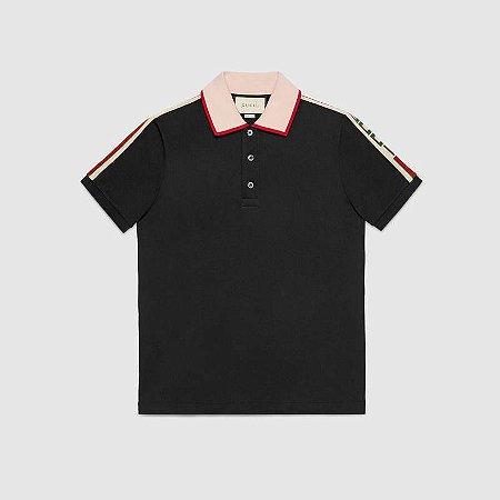 """GUCCI - Camiseta Gucci Stripe """"Black"""""""