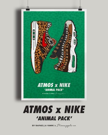 POSTER - Air Max 1/95 Atmos Animal Print (SEM MOLDURA)