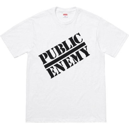 "Supreme x UNDERCOVER x Public Enemy - Camiseta Public Enemy ""White"""