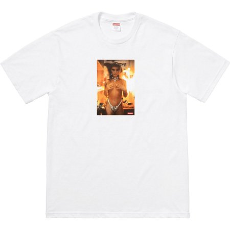 "Supreme x Nan Goldin - Camiseta Kim In Rhinestone  ""White"""