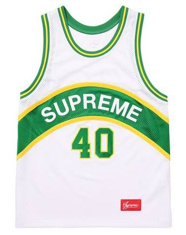 "SUPREME - Regata Curve Basketball Jersey ""White/Green"""