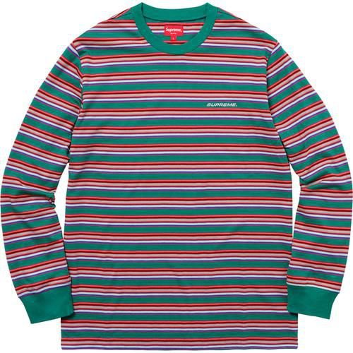 "SUPREME - Camiseta Multi Stripe ""Green"""