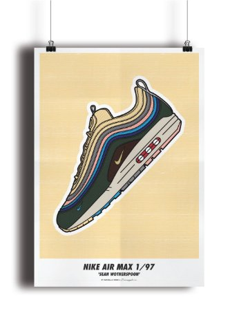 POSTER - Air Max 1/97 Sean Wotherspoon -NOVO-