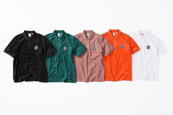 ENCOMENDA - Supreme x Lacoste - Camiseta Polo Velour