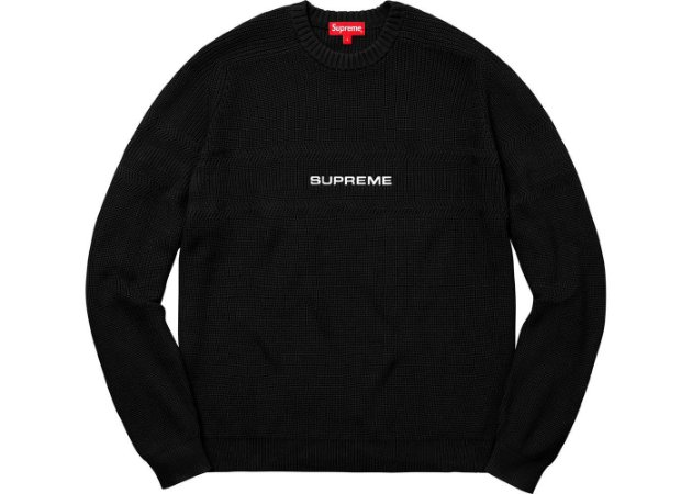 ENCOMENDA - SUPREME -  Suéter Chest Stripe Raglan
