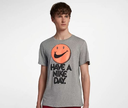 "NIKE - Camiseta Have a Nike Day ""Grey"""