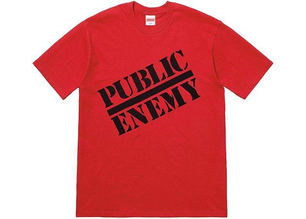 "Supreme x UNDERCOVER x Public Enemy - Camiseta Public Enemy ""Red"""