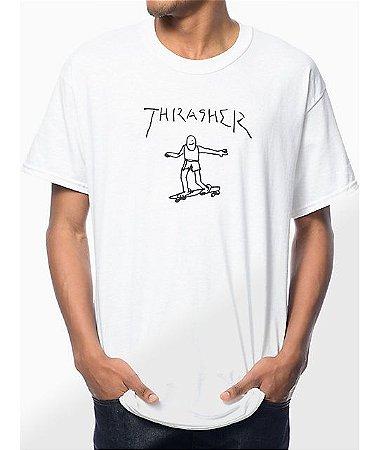 """THRASHER - Camiseta Gonz """"White"""""""