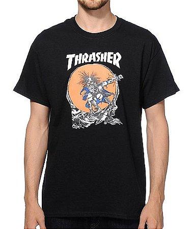"""THRASHER - Camiseta Skate Outlaw """"Black"""""""