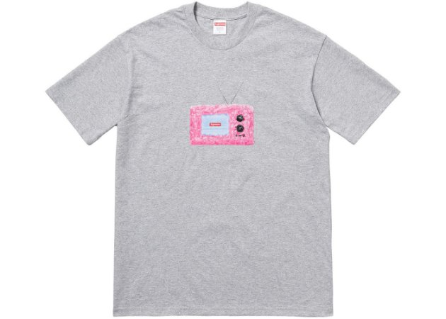 "SUPREME - Camiseta TV ""Grey"""