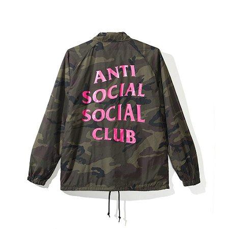 "ANTI SOCIAL SOCIAL CLUB - Jaqueta Blair Witch Camo Coach ""Green"""