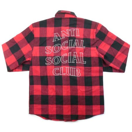 "ANTI SOCIAL SOCIAL CLUB - Camisa Trip Flannel ""Red/Black"""