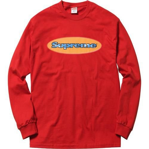 "SUPREME - Camiseta Manga Longa Ripple ""Red"""