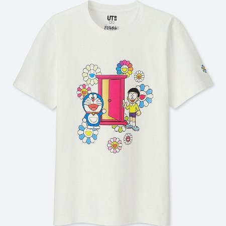"""UNIQLO X Takashi Murakami - Camiseta Doraemon Door """"White"""""""