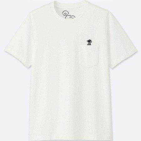 "UNIQLO x Kaws x Peanuts - Camiseta Snoopy Pocket ""White"""